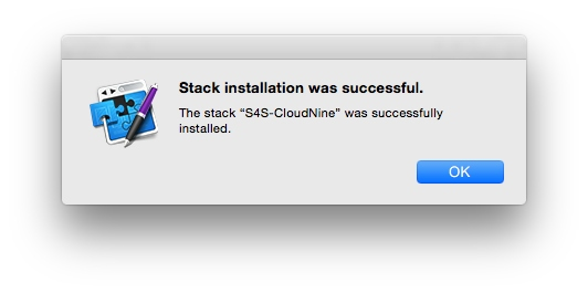 RapidWeaver stack installation